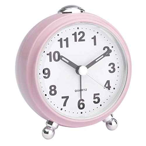 TFA-Dostmann - Reloj despertador analógico de viaje (85 x 60 x 125 mm), color rosa