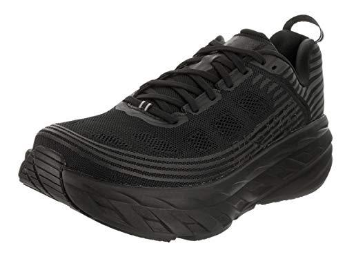 HOKA ONE ONE Mens Bondi 6 Black/Black Running Shoe - 12