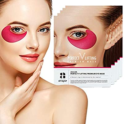 Avajar Perfect V Lifting Premium Eye Mask 2Pairs - Under Eye Bags Treatment Patches Mask for Puffy Eyes   Undereye Gel Pads Dark Circle Eyes Treatment   Collagen Hydrogel Anti Aging Wrinkle Eye Patch from Medicell