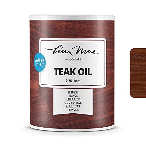 Aceite de Teka Con Acabado Natural al Agua - Protección y Restauración de la Madera Teca en Intemperie Ideal para Sillas y Mesas de Jardín, Tumbonas y Muebles (750 ml, Teca)