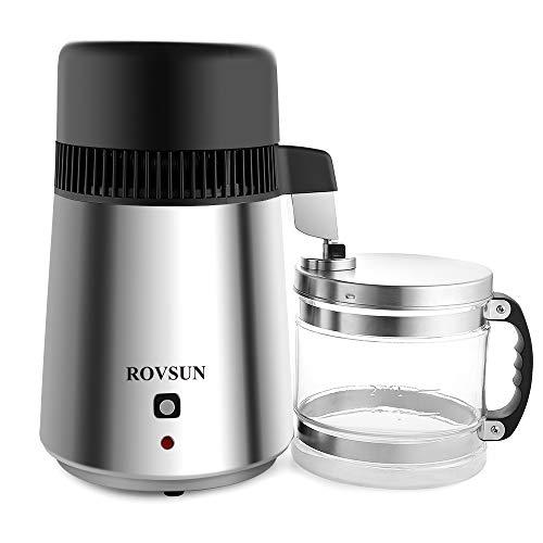 ROVSUN 4L Countertop Water Distiller Machine Stainless Steel Home...