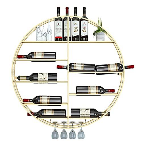 LSNLNN Estantes de Vino, Titular de la Botella de Vino Metal, Estante de Vino Montado en la Pared, Estanterías de Vidrio de Botella Estantería de Vidrio Montado en la Pared Rack de Vino Flotante Orga