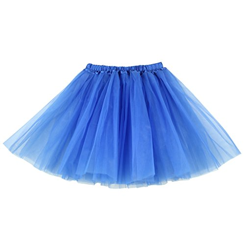 BUENOS NINOS Women's Adult Tutu Skirts Petticoat Ballet Dress-Up Fancy Dress Mud Run Hen Party 3 Layer Underskirts for Evening Christ