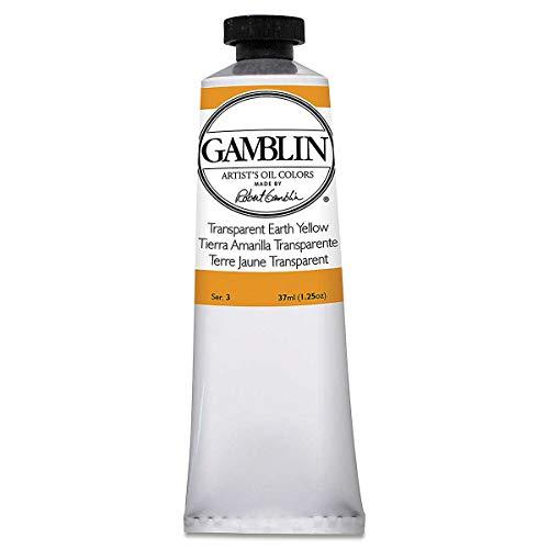 Gamblin Trans Earth Yellow Artist Oil 37Ml, Single Tube