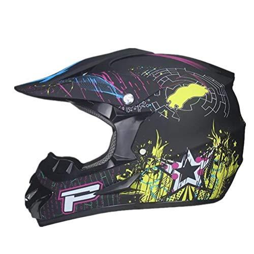 Generic Motocrosshelme Integral-Motorradhelm für Offroad-Rennen Casque Moto Helm