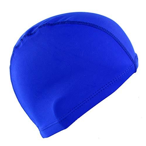 Yowablo 100% Unisex Adult Kids Kinder Schwimmbadkappe Badehut Nylon (1Stck,Blau)