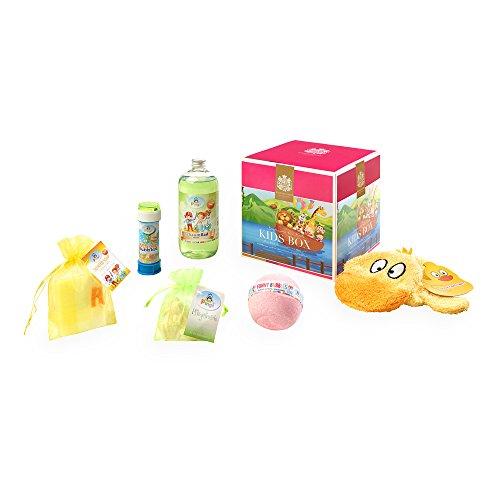 Gebündelter Kinderbadespaß in der Kids Box der Bademeisterei-Manufaktur aus Österreich /  6 verschiedene Badespaß-Artikel in einer tollen Geschenkbox.