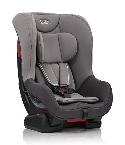 Graco Extend Reboarder Kindersitz Gruppe 0+/1, Autositz rückwärtsgerichtet ab Geburt bis ca. 4 Jahre (0-18 kg), ab ca. 9 Monaten (9-18 kg) auch in Fahrtrichtung, Seitenaufprallschutz, Iron
