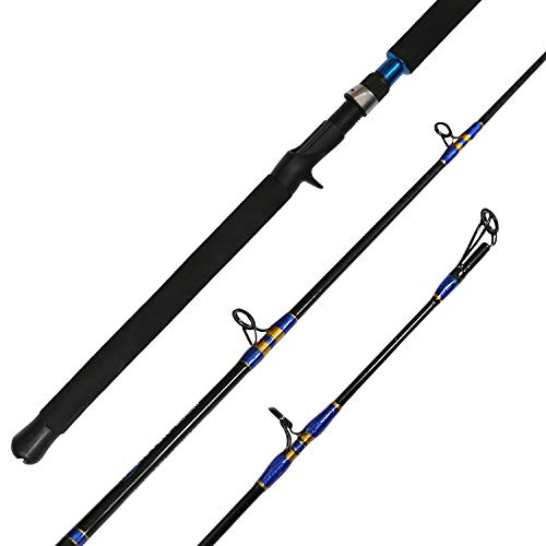 Fiblink Jigging Casting Rod 1-Piece Saltwater Fishing Jigging Jig Rod (6 Feet 30-50lb)