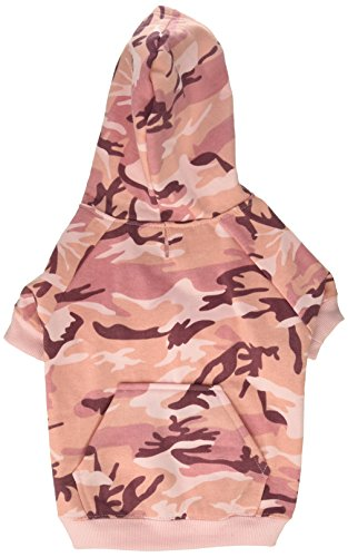 Casual Canine Camo Hoodie for Dogs, 13' Medium, Pink