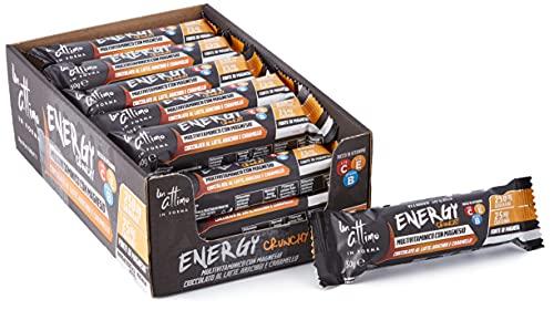 Un-Attimo in Forma, barretta cioccolato caramello e arachidi, energy, 24x50g, ricca di vitamine e con pochi zuccheri