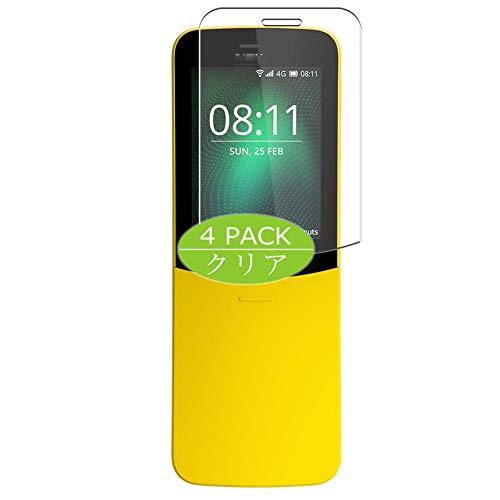 VacFun 4 Piezas Claro Protector de Pantalla, compatible con NOKIA 8110 4G, Screen Protector Película Protectora(Not Cristal Templado) NEW Version