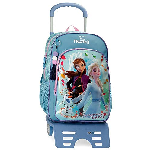 Disney Frozen Awesome Moves Mochila con Carro, 40cm, Azul