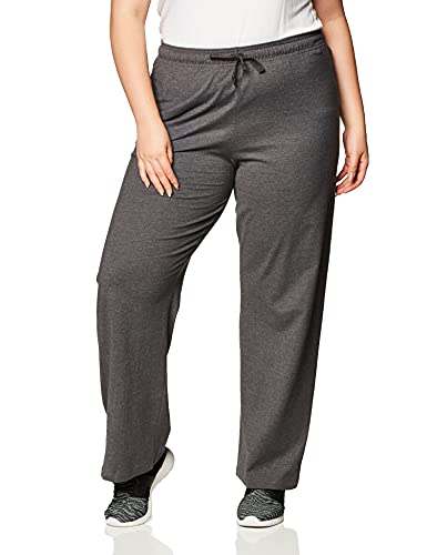 Champion Women's Plus-Size Jersey Pant, Granite Heather, 1X