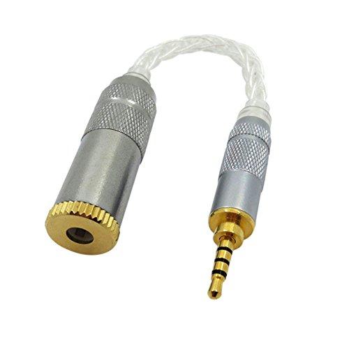Meijunter2.5MM (Männlich) Bis 4.4MM (Weiblich) ZX300A Adapter für Sony PHA-2A/iBasso/Astell & Kern AK380/Iriver Verstärker Metallkabel