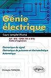 Génie électrique - Électronique du signal - Electronique de puissance et électrotechnique - Automatique