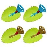 4 Piezas de Extensor de Grifo para Nios, en Forma de Hoja, Ayudas para El Lavado de Manos para Nios, Dos Colores Diferentes, para Bao y Cocina