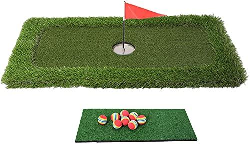 YDSZ Piscina Piscina Flotante Green Green, Práctica de Golf al Aire Libre Poniendo Estera, Patio de Golf Backyard Mateo de bateo Green