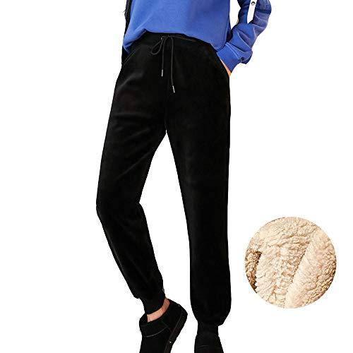 XWGlory dames winter-sterk vlies-goudfluweel warme losse casual broek