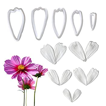 15 Pcs Mini Chrysanthemum Flower Veining Mold with Plastic Cutters Daisy Silicone Mold Cupcake Cake Topper Decoration Sets
