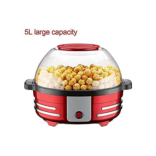 Best Deals! LKNJLL Crazy Electric Hot Oil Popcorn Popper Machine With Stirring Rod Offers Lid for Se...