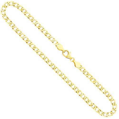 Goldkette, Panzerkette facettiert Gelbgold 333/8 K, Länge 50 cm, Breite 5 mm, Gewicht ca. 12 g, NEU