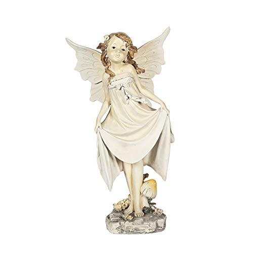 WDFVGEE Fairy Garden – Figuras de hadas de 34 cm accesorios para decoración de jardín al aire libre modelo figura decoración de mesa