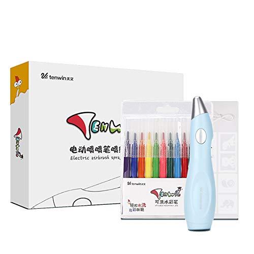 Juego de Aerógrafo de Bolígrafo de Color Eléctrico, con 12 Bolígrafos de...