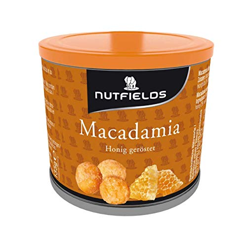 Nutfields Macadamianüsse | Honig geröstet | Gourmet-Snack | 135 g