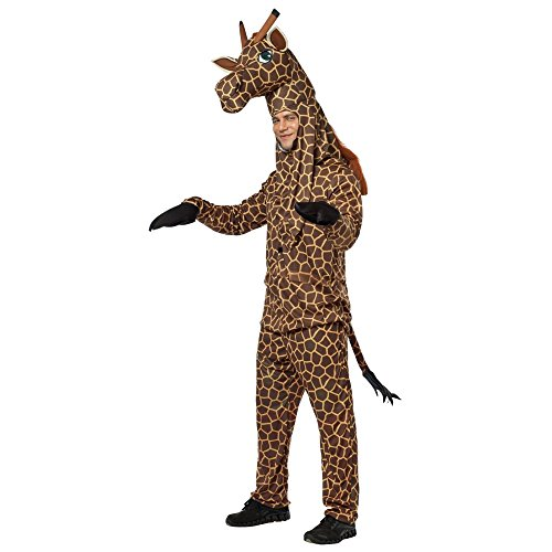 Deluxe Giraffe Adult Costume, Brown, Size One-Size (Standard)