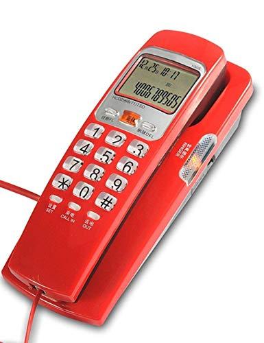 LXDDP Teléfono con Cable Estilo góndola - Teléfonos fijos con Cable Fijo, Oficina en casa Hotel Identificador Llamadas entrantes Teléfono Fijo Moda para el hogar Cocina Hotel Oficina, Azul