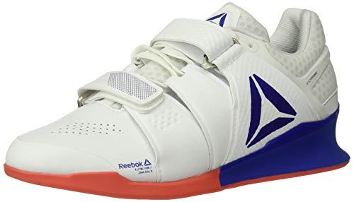 Reebok Men's Legacylifter Cross Trainer, White/Cobalt/Rosette, 12 M US