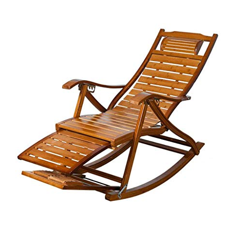 AI LI WEI Home Outdoor/Vrije tijd brede riem riem schommelstoel bamboe schommelstoel oud lunchpauze stoel massief houten schommelstoel