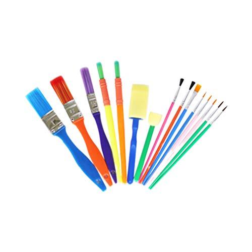 TOYANDONA 15 Pezzi creativi durevoli pennelli pratici apprendimento precoce Kit di Pittura Fai da Te spugne spazzole per Bambini