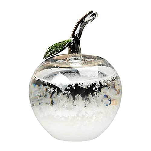 ZAIZAI Barómetro de Vidrio Intercambiable Botella de Cambio de Clima Artesanía de Escritorio con Forma de Manzana