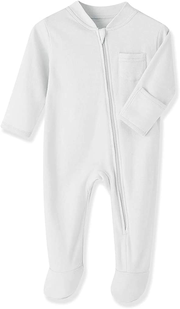 Baby Kids Sleep and Play Cotton Sleeper Footed Zip Pa Direct store Front Year-end gift