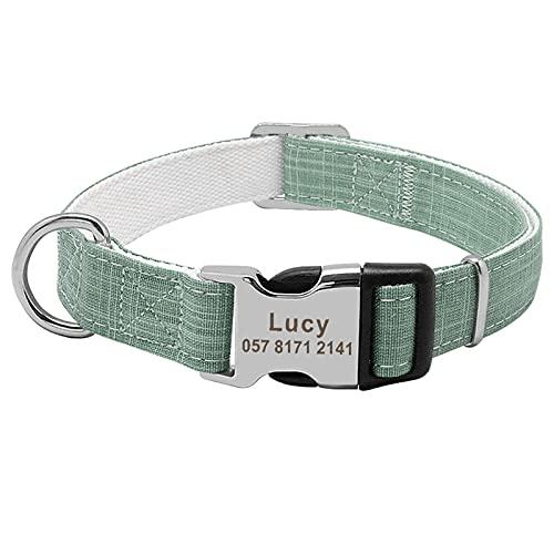 JIETAOMY Collar Perros Collar de Perro Personalizado Cuello de Cachorro de Nylon de Nylon Ajustable Personalizado de Perros Cuello para Chihuahua Pastor alemán Productos Perro Perro