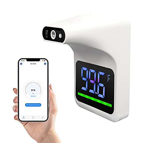 No-Contact Infrared Wall Mount ONLY Thermometer with Bluetooth and Fever...