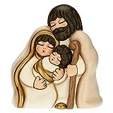 THUN - Soprammobile Sacra Famiglia - Decorazioni Natale Casa - Formato Maxi - Ceramica - 26,6 x 18 x 30 h cm