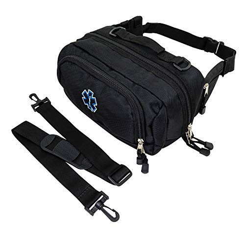 LINE2design Deluxe Medical Fanny Pack Large - EMS EMT Emergency Paramedic First Aid First Responder - Portable Travel Size Medical Equipment Organizer Hip Bag with Multiple Internal Pockets - Perfect