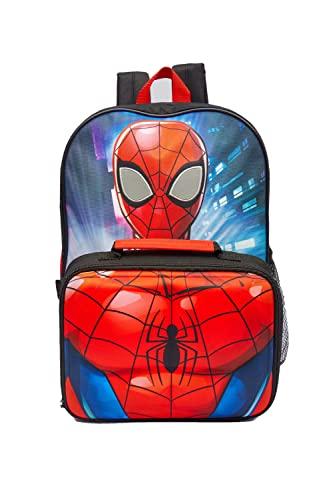 Spiderman Albie - Zaino con borsa per il pranzo e borraccia