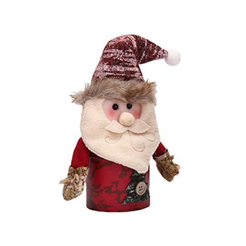 Amosfun Kerstmis Apple Jar Gift Bag Santas Gevormd Kerstmis Apple Box Leuke Snoepzak Cookie Jars voor Kerstmis Kinder Kinderen