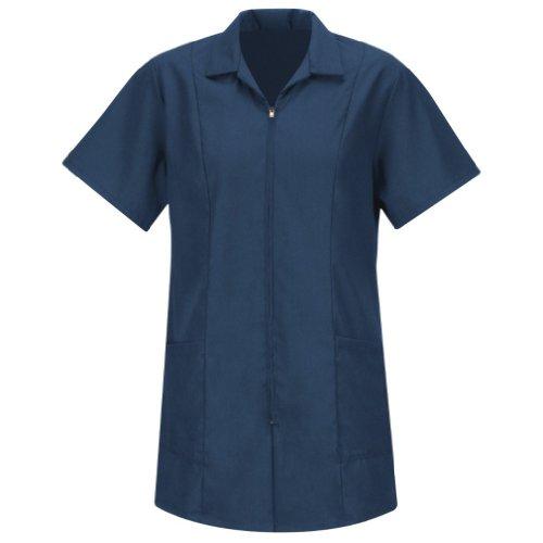 Red Kap Women's Standard Zip-Front Smock, Navy, X-Large
