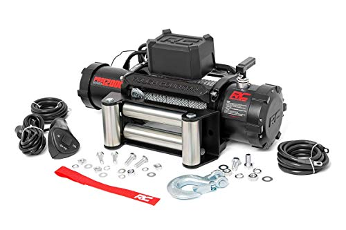 Rough Country 12,000 LB PRO Series Electric Winch | 100 FT Steel Rope | Fairlead | Clevis Hook | 12 FT Remote | PRO12000