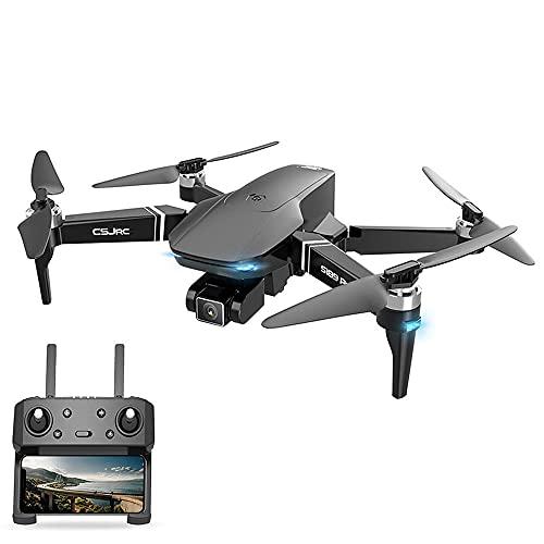 JINFENFG Cámara aérea de Larga duración sin escobillas GPS con una tecla Regreso a casa Drone 6K Gimbal Cuadricóptero aéreo de Alta definición Avión RC Helicóptero RC
