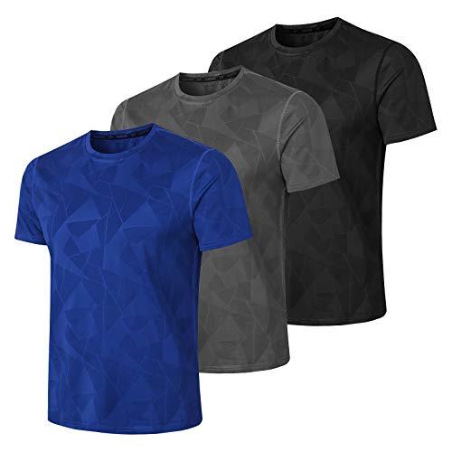 MEETWEE Sportshirt Herren, FunktionsshirtKurzarm Laufshirt AtmungsaktivKurzarmshirt Sports Shirt Männer Trainingsshirtfür Running Jogging Gym