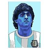 Tela De Lienzo 60x90cm Sin Marco Diego Maradona Argentina Soccer Football Star On Cotizaciones Decoración del hogar