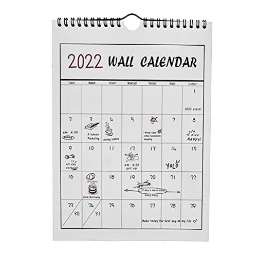 STOBOK Calendario Accademico da Parete 1Pc 2021-2022 16 Mesi Settembre 2021 - Dicembre 2022 Calendario Pianificatore Calendario Muro Dipinto a Mano Programma Pianificatore per La