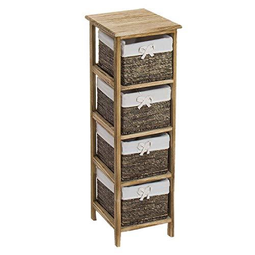 Home Gadgets Kommode mit 4 Schubladen, Holz, 97 cm