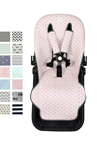Fundas BCN ® - F125 - Colchoneta para silla de paseo Bugaboo Cameleon ® 3 – Diversos estampados (Little Fun Peach)